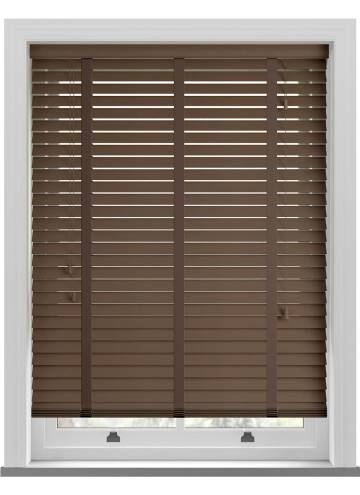 Wooden Blinds Mississippi Taped Medium Oak