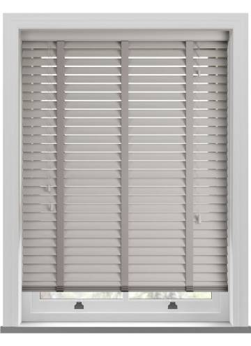 Wooden Blinds Mississippi Taped Steel Grey