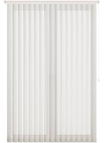 Replacement Vertical Blind Slats Mood FR Voile Cotton White