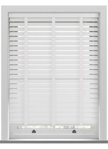 Wooden Blinds Nile 63mm Taped White