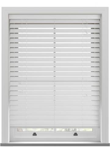 Wooden Blinds Nile 63mm White