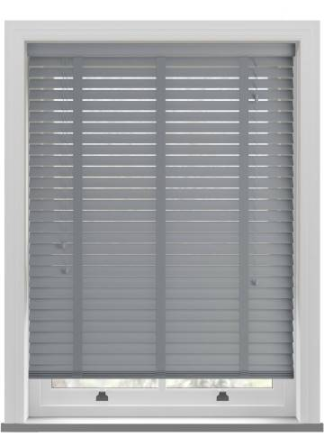 Wooden Blinds Nile Taped Dark Grey