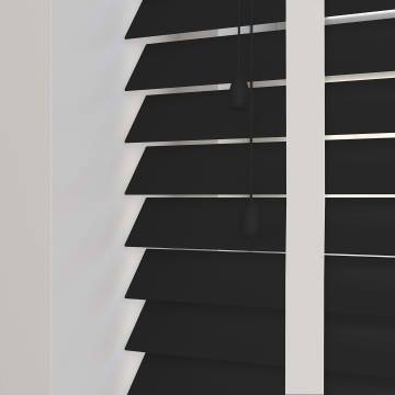 Wooden Blinds Nile Taped Ebony with Contrast White Tape