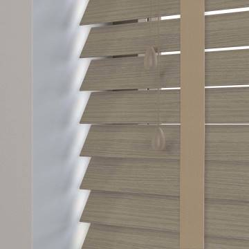 Wooden Blinds Nile Taped Grained Stonewash