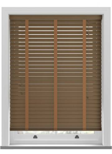Wooden Blinds Nile Taped Pecan
