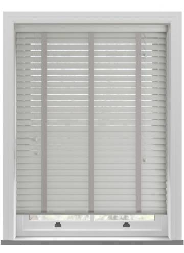Wooden Blinds Nile Taped Soft Grey