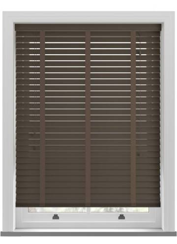Wooden Blinds Nile Taped Walnut