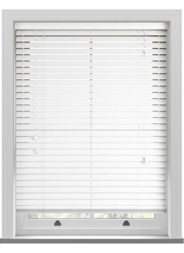 Wooden Blinds Premier Grained Bright White