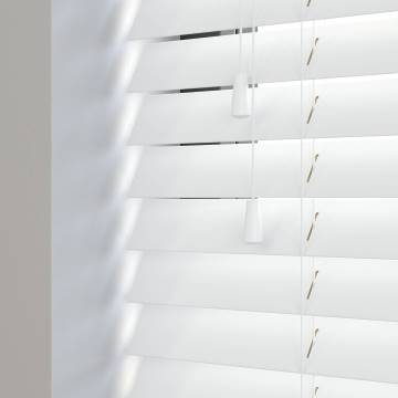 Wooden Blinds Premier Bright White