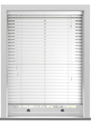 Wooden Blinds Premier 50mm Bright White