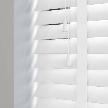 Wooden Blinds Premier Taped Bright White