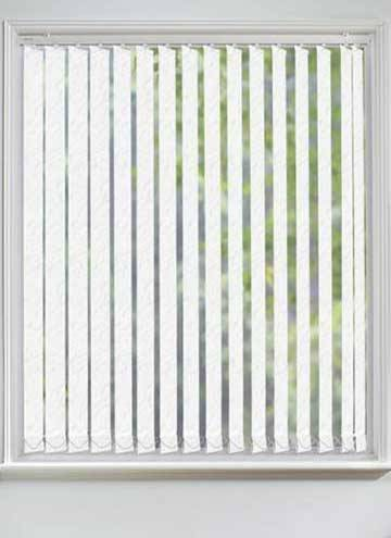 Vertical Blinds Sahara PVC Blackout White
