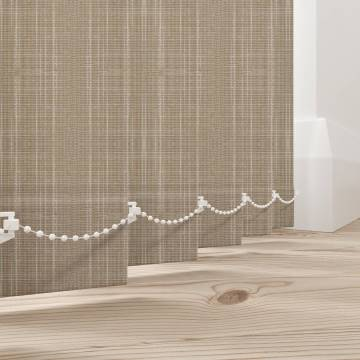 Vertical Blinds Shantung Champagne