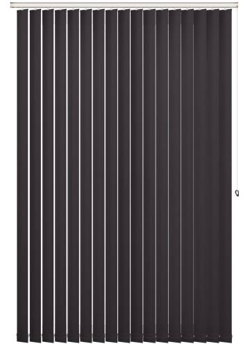 Replacement Vertical Blind Slats Shimmer Blackout Quartz Black