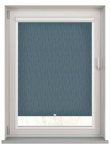 Perfect Fit Roller Blinds Sio Marmo Blue