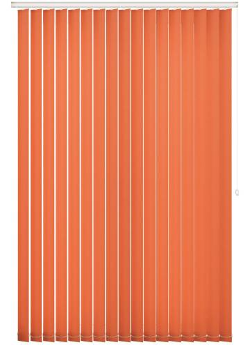 Replacement Vertical Blind Slats Splash Bright Orange