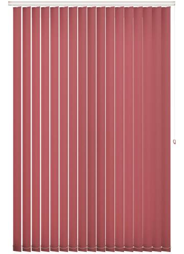 Replacement Vertical Blind Slats Splash Chilli Red