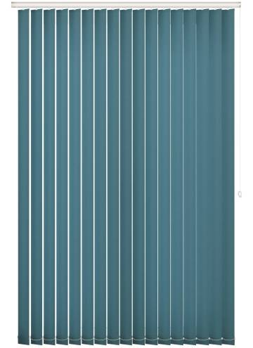 Vertical Blinds Splash Dark Teal Blue