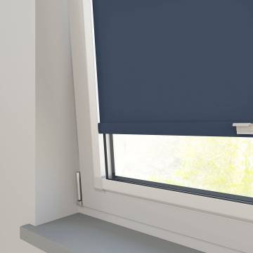 Perfect Fit Roller Blinds Splash Indigo Blue