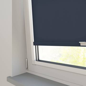 Perfect Fit Roller Blinds Splash Midnight Blue