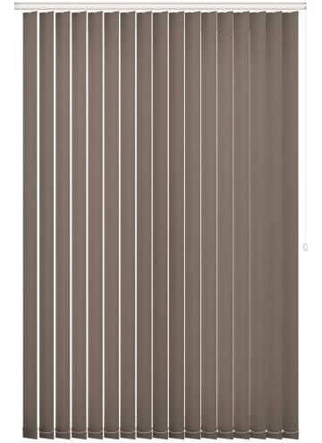 Vertical Blinds Splash Mushroom Brown
