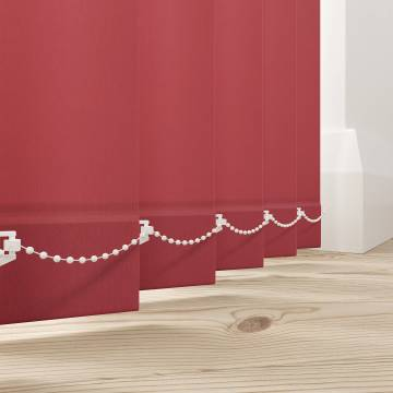 Vertical Blinds Splash Ruby Red