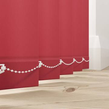 Vertical Blinds Splash Scarlet Red