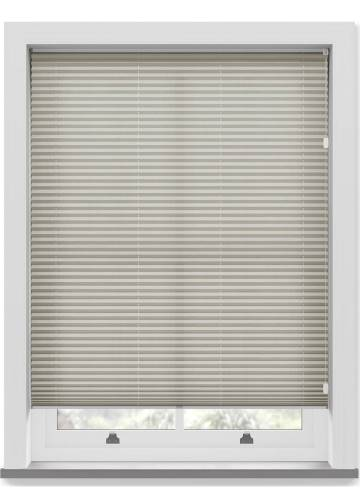 Pleated Free hanging Blinds Sylvan Linen Stone