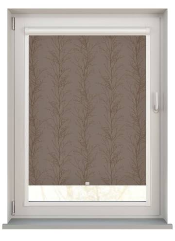 Perfect Fit Roller Blinds Treviso Monsoon Taupe Brown
