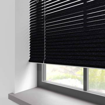 Venetian Blinds Turin 25mm Gemstone Jet Black