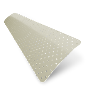 Turin 25mm Perforated Cream