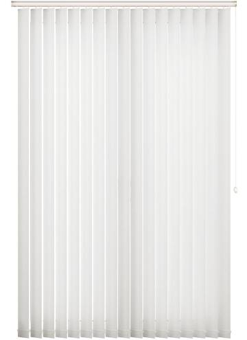 Vertical Blinds Tweed Frost White