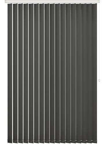 Replacement Vertical Blind Slats Unicolour FR Black