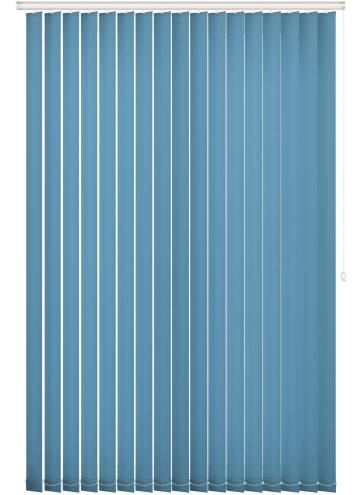Replacement Vertical Blind Slats Unicolour FR Cyan Blue