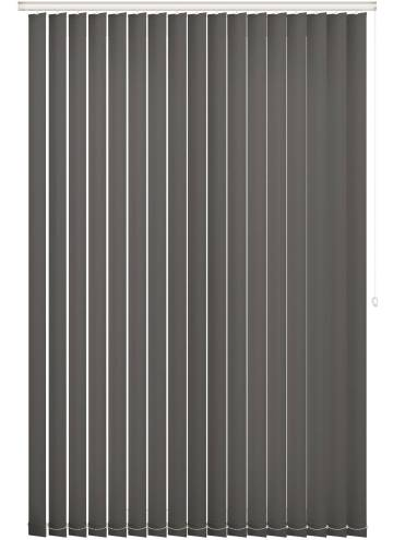 Replacement Vertical Blind Slats Unicolour FR Dark Grey