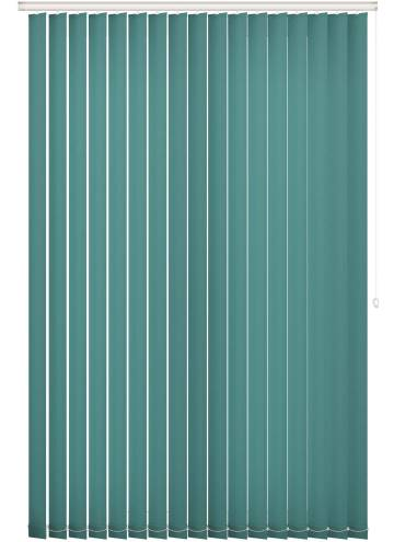 Replacement Vertical Blind Slats Unicolour FR Glade Green