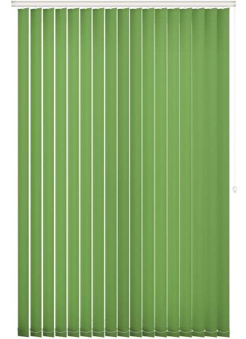 Replacement Vertical Blind Slats Unicolour FR Kiwi Green