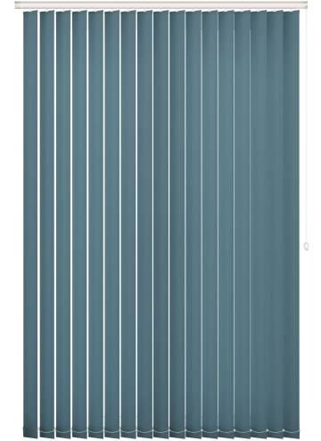Replacement Vertical Blind Slats Unicolour FR Lapis Blue