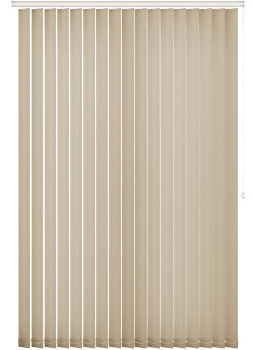 Replacement Vertical Blind Slats Unicolour FR Light Cream
