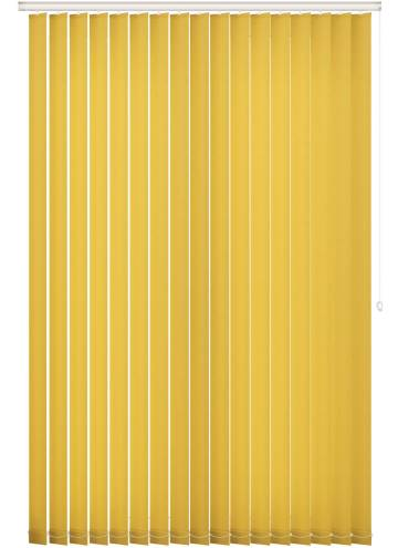 Replacement Vertical Blind Slats Unicolour FR Luna Yellow