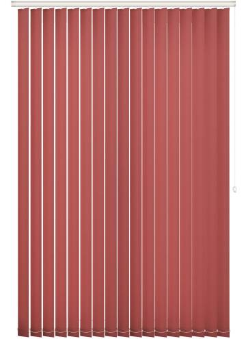Replacement Vertical Blind Slats Unicolour FR Morello Red