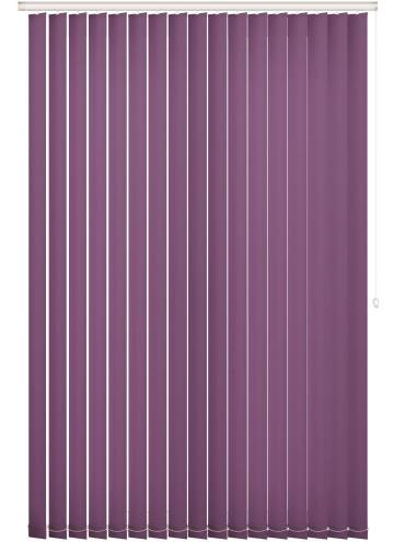 Replacement Vertical Blind Slats Unicolour FR Mulberry Purple