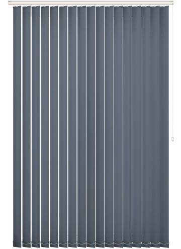 Replacement Vertical Blind Slats Unicolour FR Navy Blue