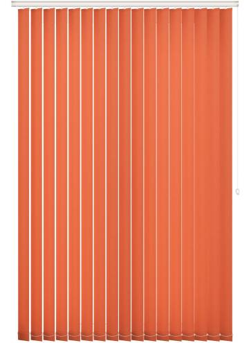 Replacement Vertical Blind Slats Unicolour FR Rayon Orange