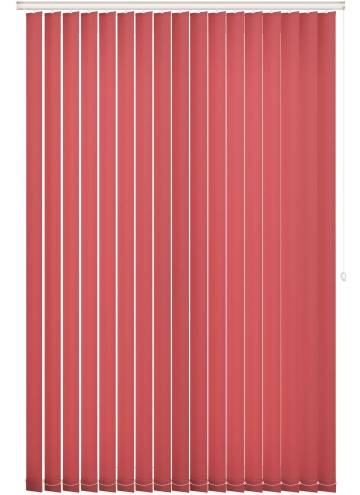 Replacement Vertical Blind Slats Unicolour FR Red