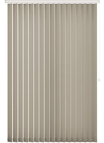 Vertical Blinds Unicolour FR Taupe Brown