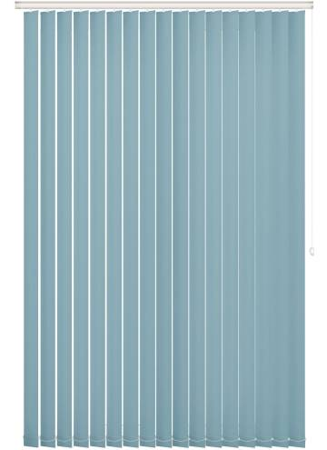 Replacement Vertical Blind Slats Unishade Blackout FR Batik Blue