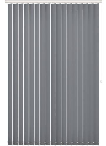 Vertical Blinds Unishade Blackout FR Charcoal Grey
