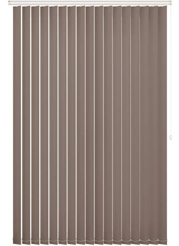 Vertical Blinds Unishade Blackout FR Chocolate Brown