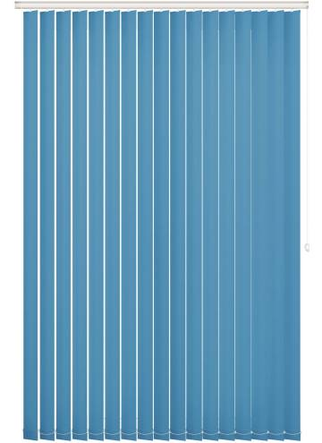 Vertical Blinds Unishade Blackout FR Cyan Blue
